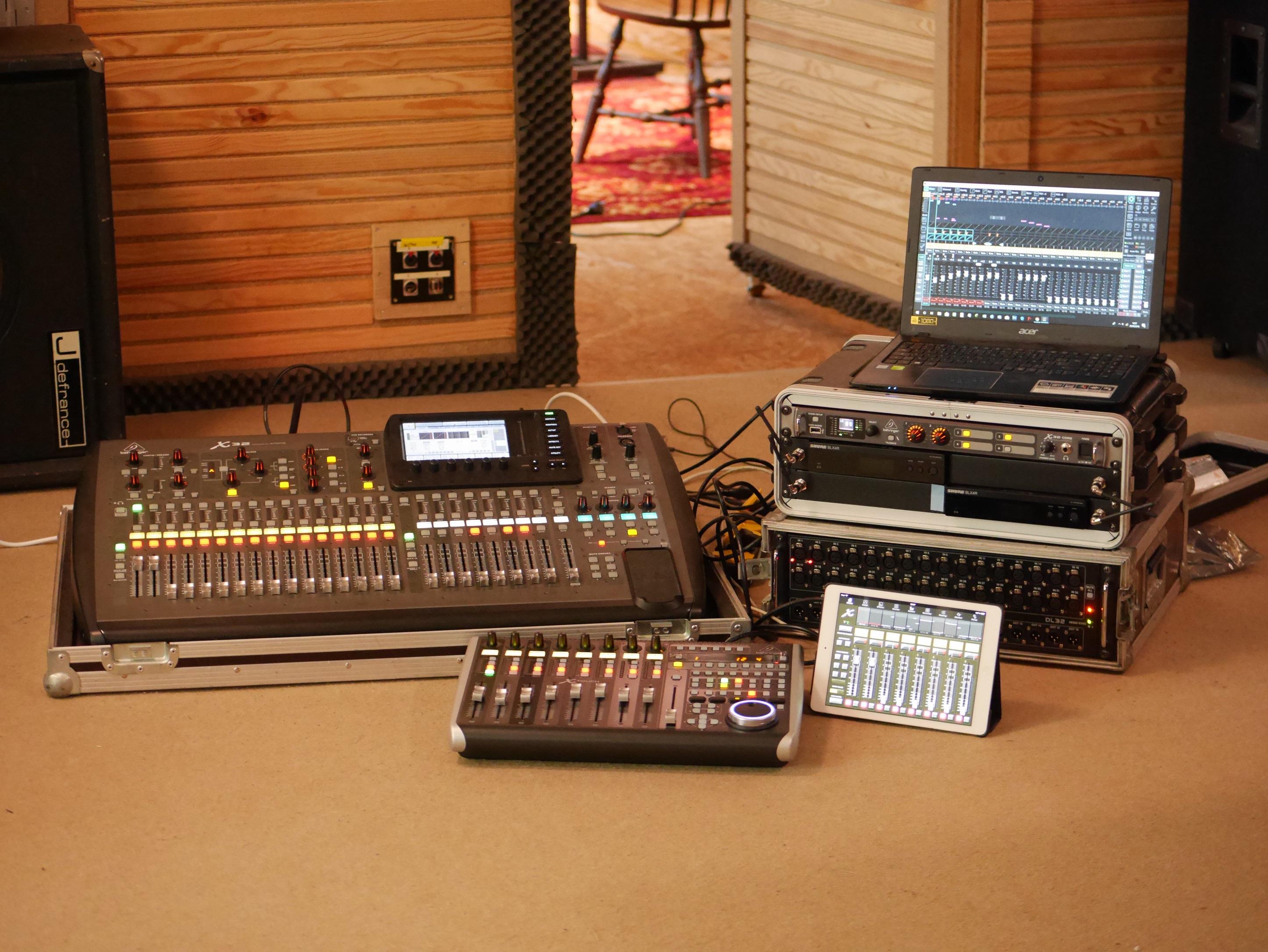studio la boîte à meuh - régie mobile enregistrement 64 pistes