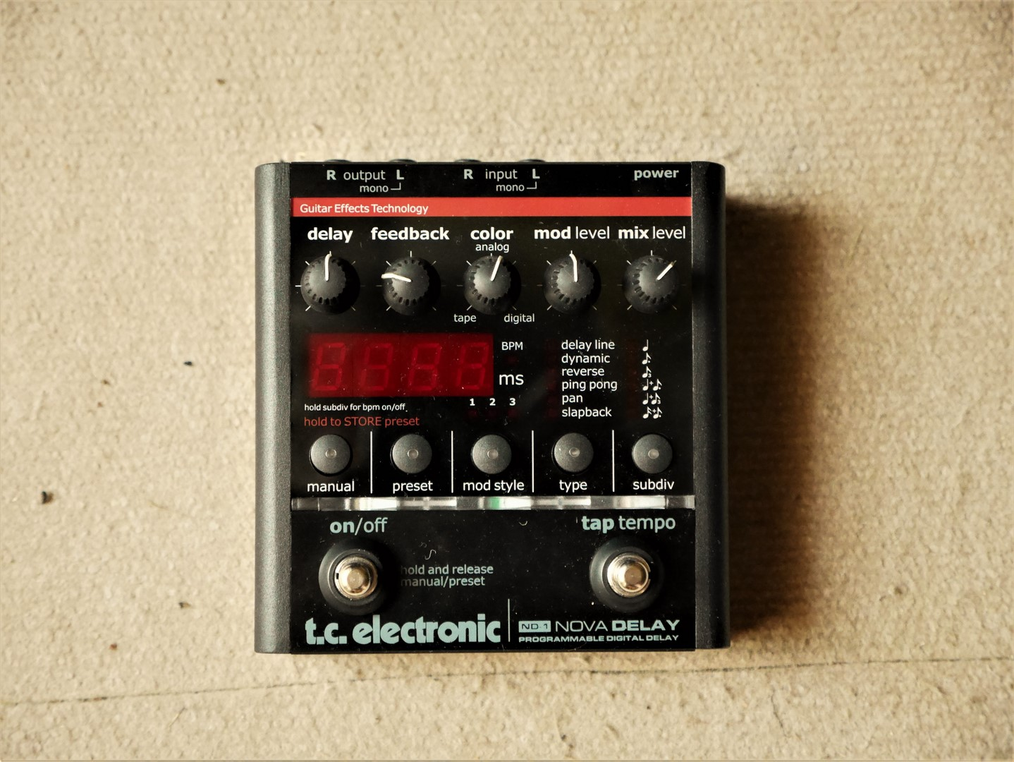 studio-la-boite-a-meuh-tc-electronic-nova-delay-nd1-face